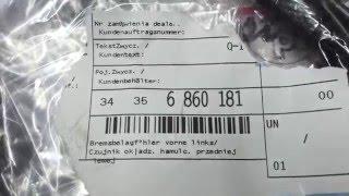 34356860181 Датчик износа тормозных колодок передний BMW X5 E70/F15 / X6 E71/E72/F16
