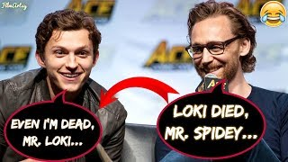 Tom Holland and Tom Hiddleston Makes Fun of Each Other  Avengers: Infinity War 2018