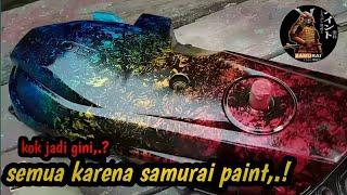 Modifikasi honda beat karbu part 2 #babylook ala-ala, Repaint cvt & tutup kipas with #samurai paint