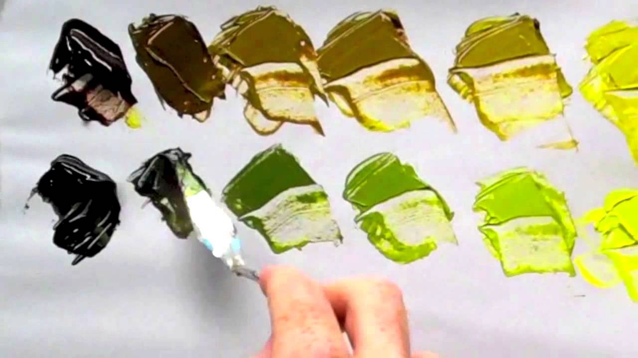 Belajar Membuat Warna Hijau Dengan Cat Acrylic How To Mix Green Color Youtube