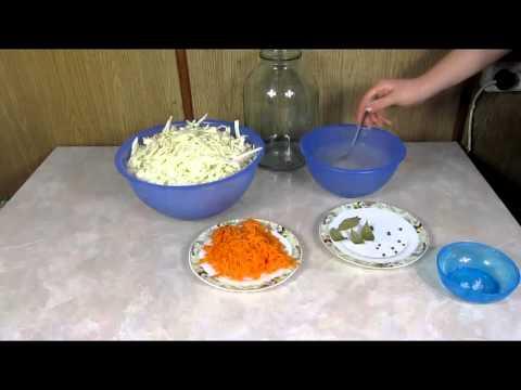 Квашеная капуста Квасим капусту Рецепт быстрого приготовления