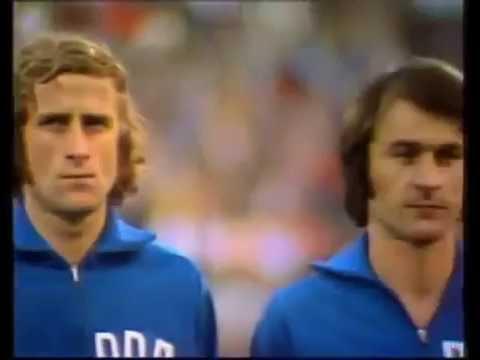East Germany vs West Germany 1974 - DDR Anthem (Choir)