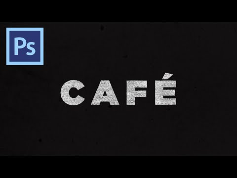 How to Apply Textures To Text In Photoshop!