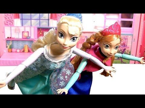 Bonecas Elsa Anna Patinadoras no Gelo | Ice Skating Elsa Anna Dolls ...