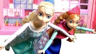 Bonecas Elsa Anna Patinadoras no Gelo | Ice Skating Elsa Anna Dolls Disney Frozen Reino do Gelo