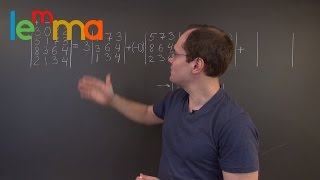 Linear Algebra 14TBD: Row or Column Expansion of the Determinant by Cofactors (or Minors)(This course is on Lemma: http://lem.ma Lemma looking for developers: http://lem.ma/jobs Other than http://lem.ma, I recommend Strang http://bit.ly/StrangYT, ..., 2016-04-11T21:29:21.000Z)
