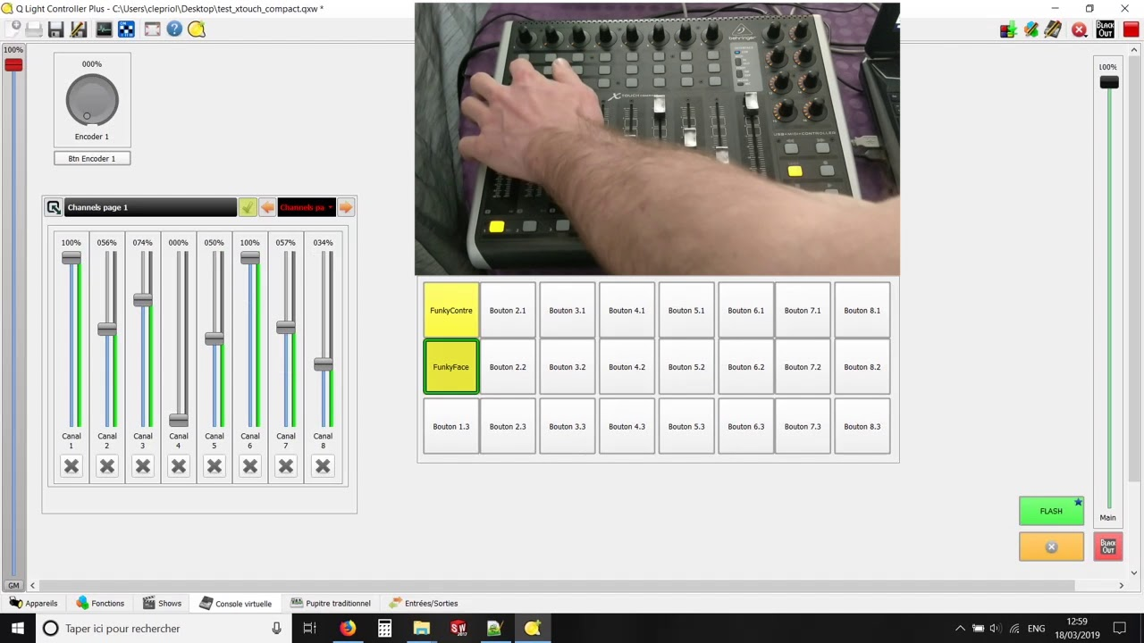 Behringer XTouch Compact - Q Light Controller+