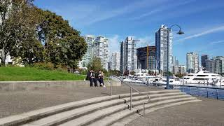Vancouver STREET END-TO-END WALK: DRAKE STREET From David Lam Park & False Creek to Burrard Street