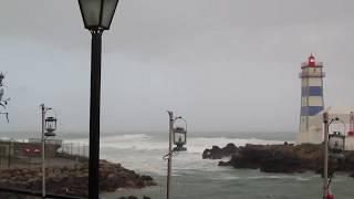 Tempestade Félix, Cascais, Portugal, em 11-03-2018