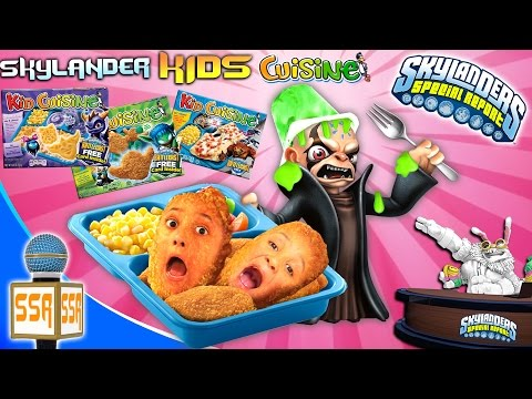 SKYLANDERS SPECIAL REPORT 1:  Kid Cuisine Meals!!  Kaos Just Wants to be on TV