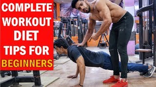 Complete Workout & Diet Tips For Beginners   First Day In The Gym
