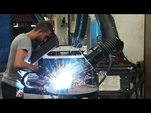 Working example of Welding Fume Extraction System, Freshweld