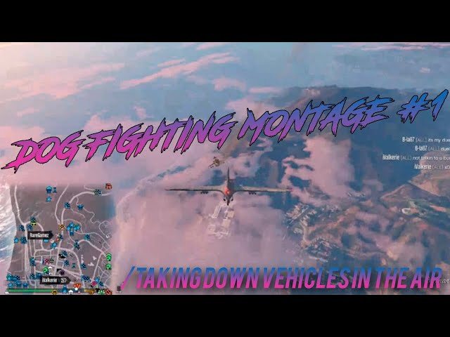 GTA Online Taking down vehicles in the air (Dogfighting montage)