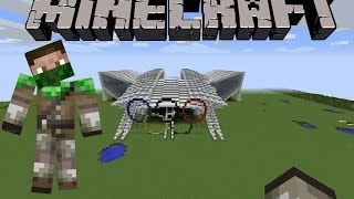 Minecraft Creation: Olympic Stadium with 3 Swimming Pools