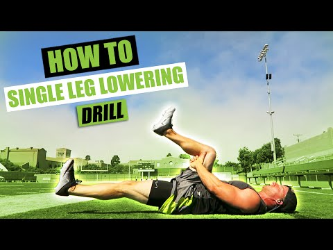 Single Leg Lowering Drill | Exercise Demonstration Video and Guide