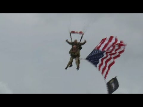 Brian Ross - VIDEO: 97-Year Old Veteran Parachutes into  Normandy!