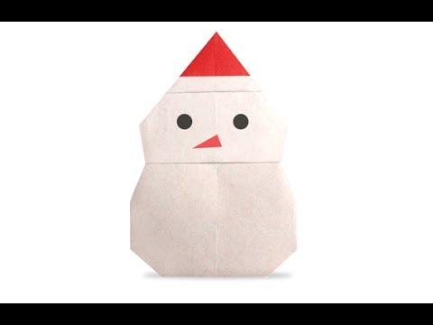 Origami Snowman Full Hd Youtube