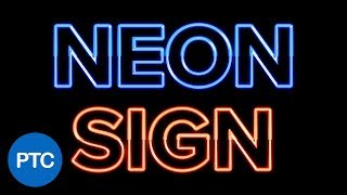 Photoshop Tutorial: How to Create a Glowing NEON Sign Text Effect Using Layer Styles