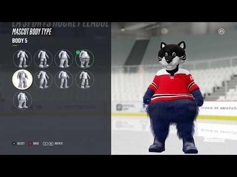 NHL 18 | *NEW* CREATE A MASCOT FEATURE!