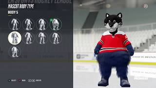 NHL 18 | *NEW* CREATE A MASCOT FEATURE!