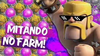 AS MELHORES MITADAS DA SEMANA,NO FARM DO CLASH OF CLANS | 2018 VAI SER MONSTRO!