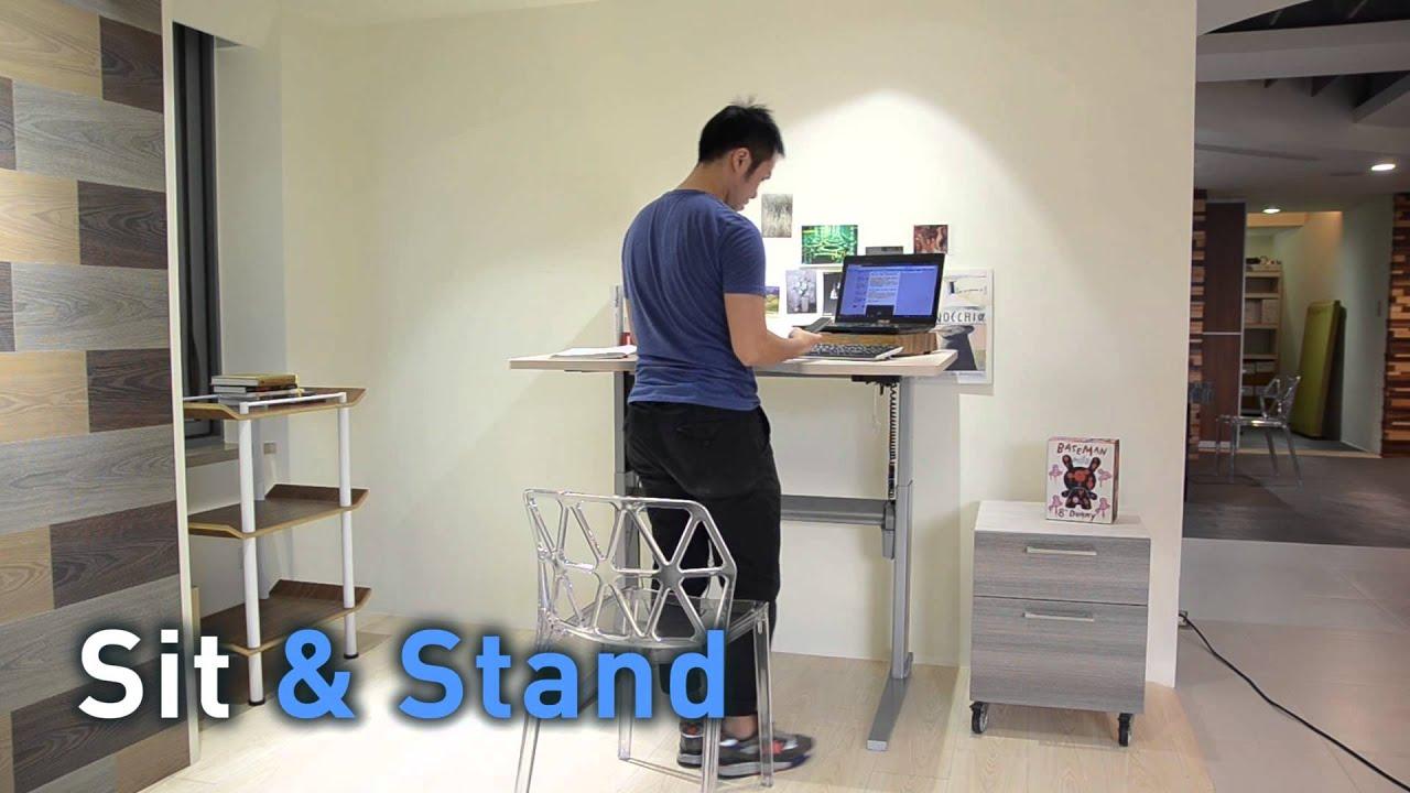 Standing Desk Ergonomics singapore standing desk / ergonomic workstation - youtube