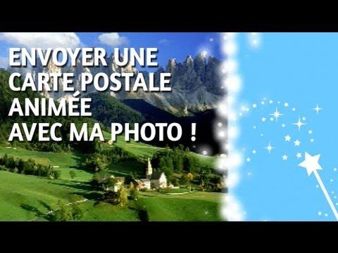 Comment envoyer une carte postale animée en moins de 2 mn avec votre photo de vacances - YouTube
