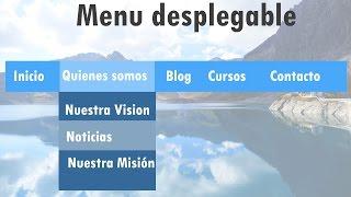como hacer un menu desplegable con HTML5 y CSS3