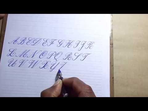 Alfabeto Maiúsculo Cursiva Inglesa