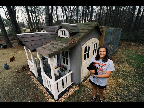 15 Year Old Turns Playhouse Into Chicken Coop