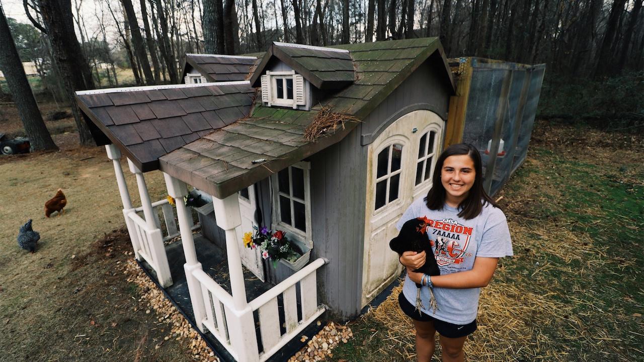 15 Year Old Turns Playhouse Into En Coop