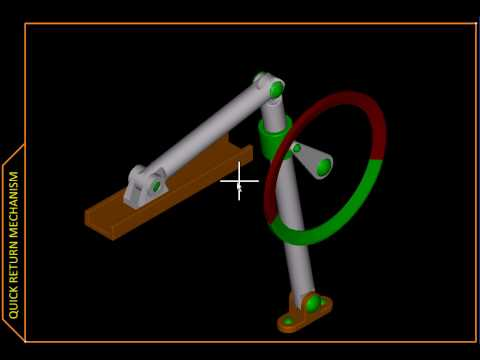 Kinematics with MicroStation – Ch01 H Slider Crank Inversion III