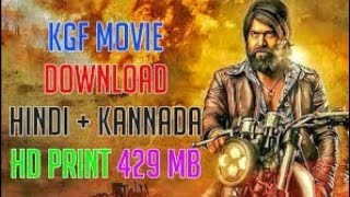 HOW TO DOWNLOAD KGF IN HINDI  full HD movie download