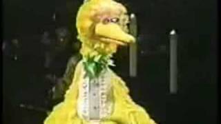 Big Bird at Jim Henson's Memorial