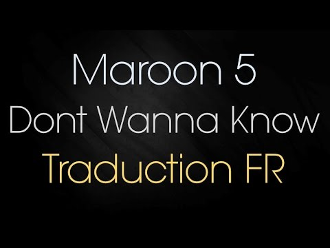 Maroon 5 - Don't Wanna Know Ft. Kendrick...