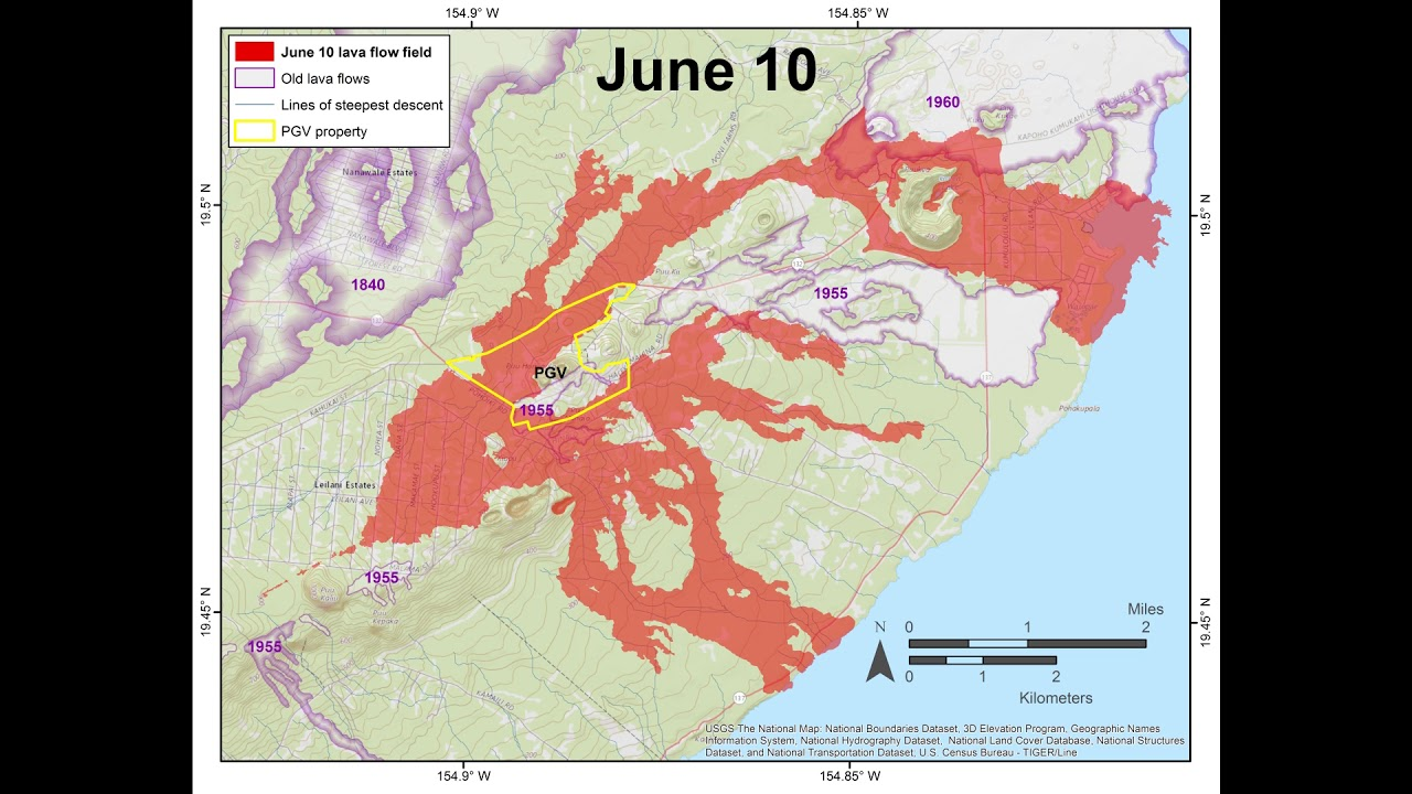 Kīlauea Volcano — Eruption Lava Flow Timelapse