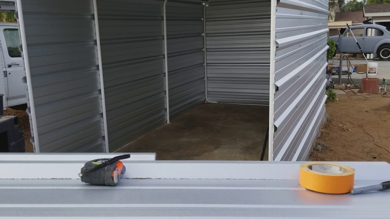 harbor freight portable garage into permanent structure ...