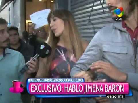 Jimena Barón no la pasa bien con el asedio periodístico