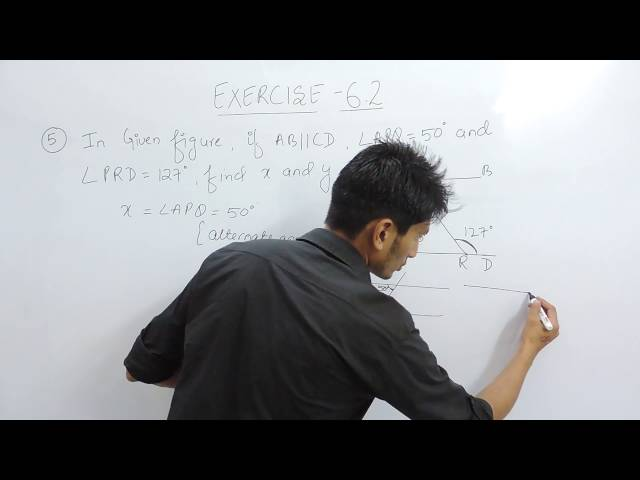Exercise 6.2 (Lines and Angles) Question 5 NCERT/CBSE Solution for Class 9th Maths