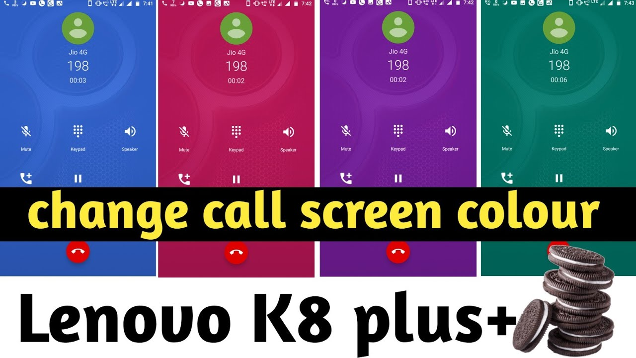 How to change Call Screen Colour on Lenovo k8 plus after oreo update    incoming calling colour