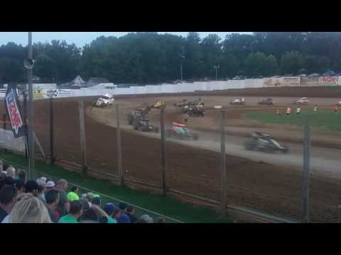 USAC Sprint Car Feature Part 2  Lincoln Park Speedway