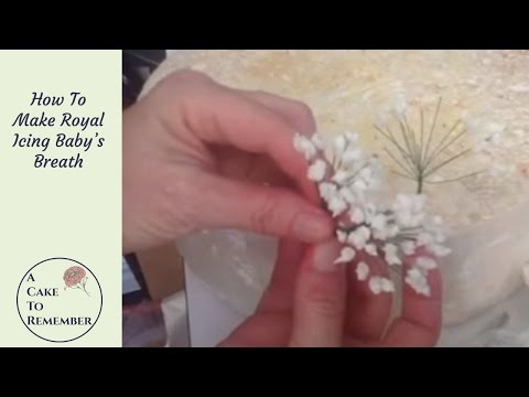 How to make royal icing baby s breath for cake decorating - YouTube