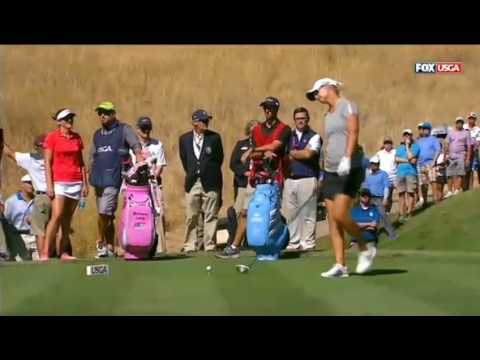 Brittany Lang,Anna Nordqvist Play Off Women's US Open 2016 F