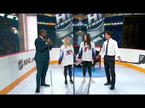 NHL Tonight:  Amanda Kessel And Hilary Knight Demo In The Rink  Apr 5,  2019