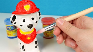 Painting Chase and Marshall of Paw Patrol ❤️ Paw Patrol toys videos english