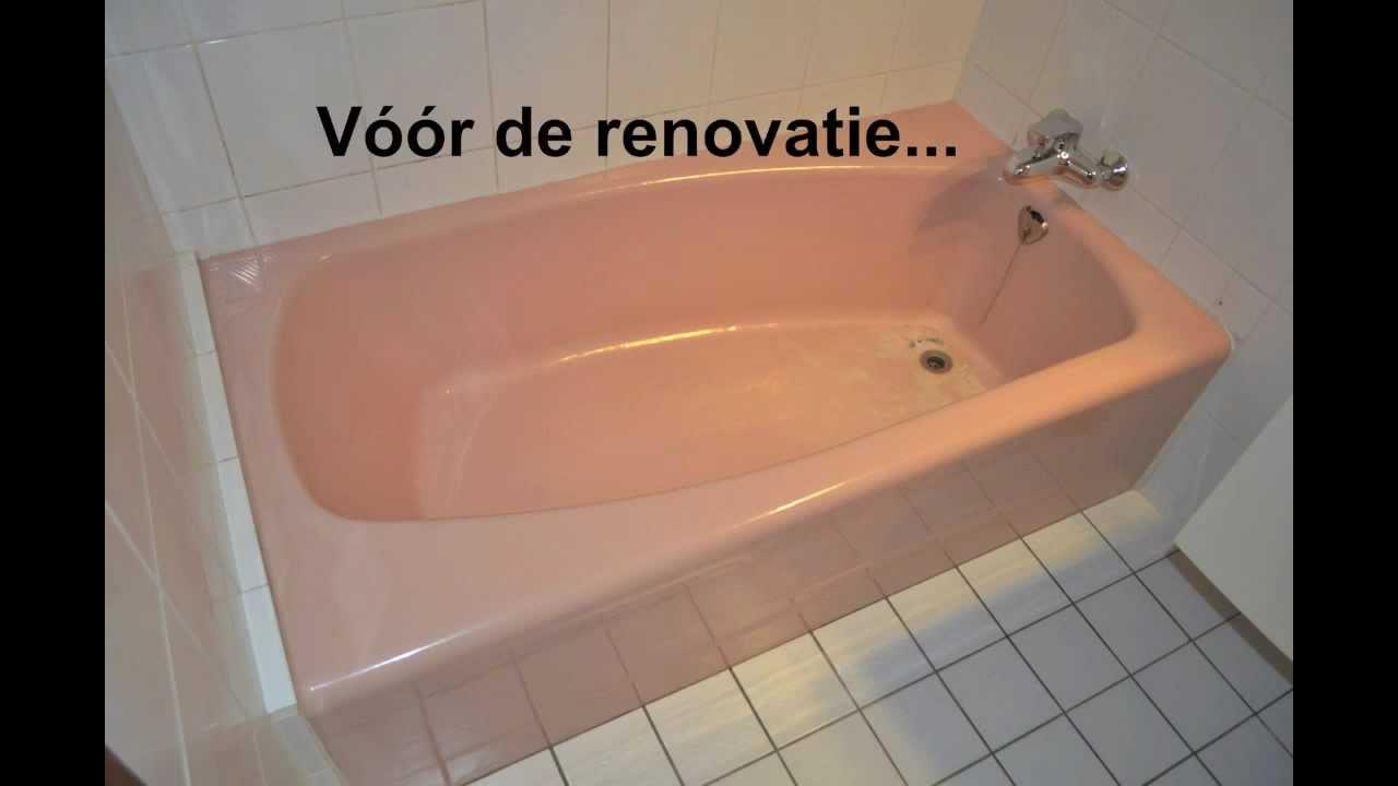 Renovatie roze bad badkuip emailleren youtube - Hoe een verf kleur voorbereiden ...