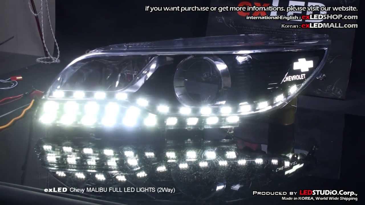 exLED Chevy MALIBU FULL LED LIGHTS (2Way) - YouTube