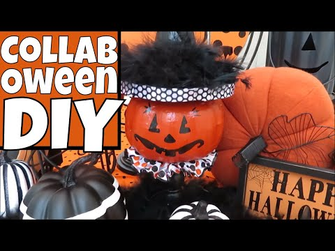 Paper Mache Vintage HALLOWEEN Decor DIY & Hobby Lobby Dupe | Collaboween 2018!