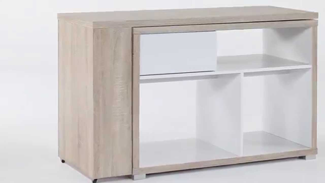 Bureau d 39 angle ch ne blanc corner but youtube for Bureau en angle