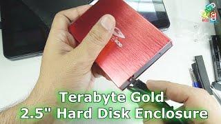 Terabyte Gold 2 5 inch SATA Hard Disk Enclousre: USB Version 2.0